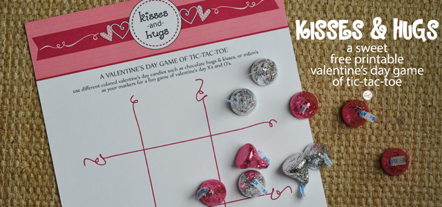 Valentine\'s Day Tic Tac Toe Printable - Free | Live Craft Eat