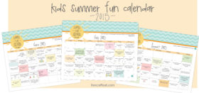 summer fun calendar for kids :: 2015