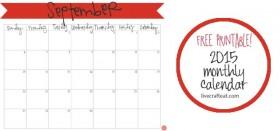 free printable calendar :: september 2015