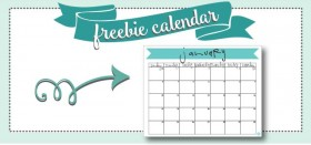 free printable monthly calendar :: january 2016