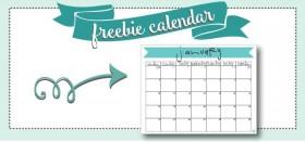 free printable monthly calendar :: january 2016