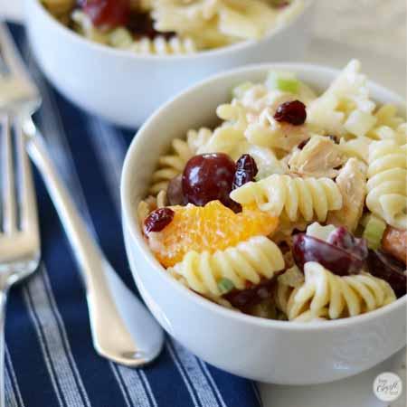 chicken pasta salad with fruit 450x450