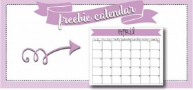 free printable monthly calendar :: april 2016