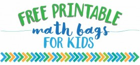 free printable math bag games for kids!