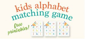 kids alphabet matching game :: free printables!