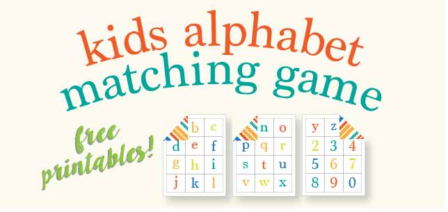 photo regarding Alphabet Matching Game Printable named Small children Alphabet Matching Video game - Totally free Printable Are living Craft Try to eat