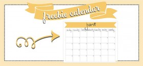 free printable monthly calendar :: june 2016
