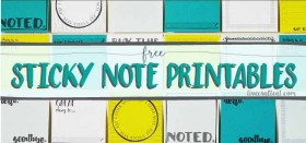 free printable sticky notes with template and tutorial! makes organizing all that more fun!