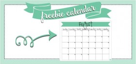 free printable monthly calendar :: august 2016