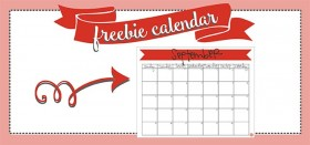 free printable monthly calendar :: september 2016