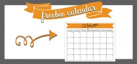free printable monthly calendar :: october 2016