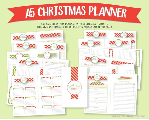 a5 christmas planner