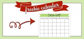 free printable monthly calendar :: december 2016