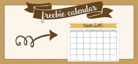 free printable monthly calendar :: november 2016