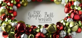 homemade jingle bell wreath