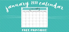 free printable monthly calendar :: january 2017