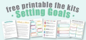 free printable fhe kits :: setting goals