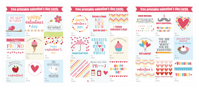 print and cut :: these are adorable free printable valentine's day cards for kids to give to their friends!