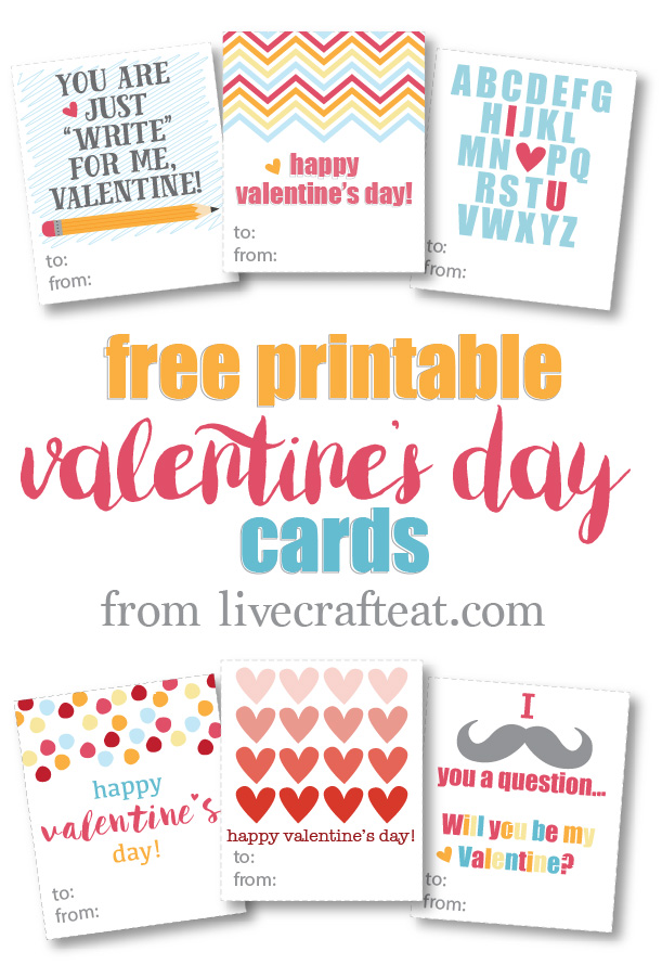 free printable valentine's day cards! it's so easy to just print, cut, and use however you'd like. great for kids to give to their friends!
