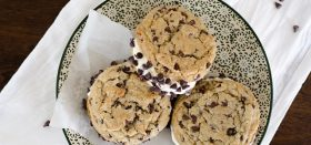 homemade ice cream sandwiches with cookies