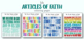 lds articles of faith coloring pages