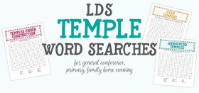 lds temples word searches