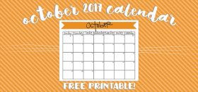 free printable monthly calendar :: october 2017