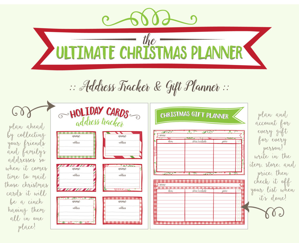 ultimate christmas planner printable