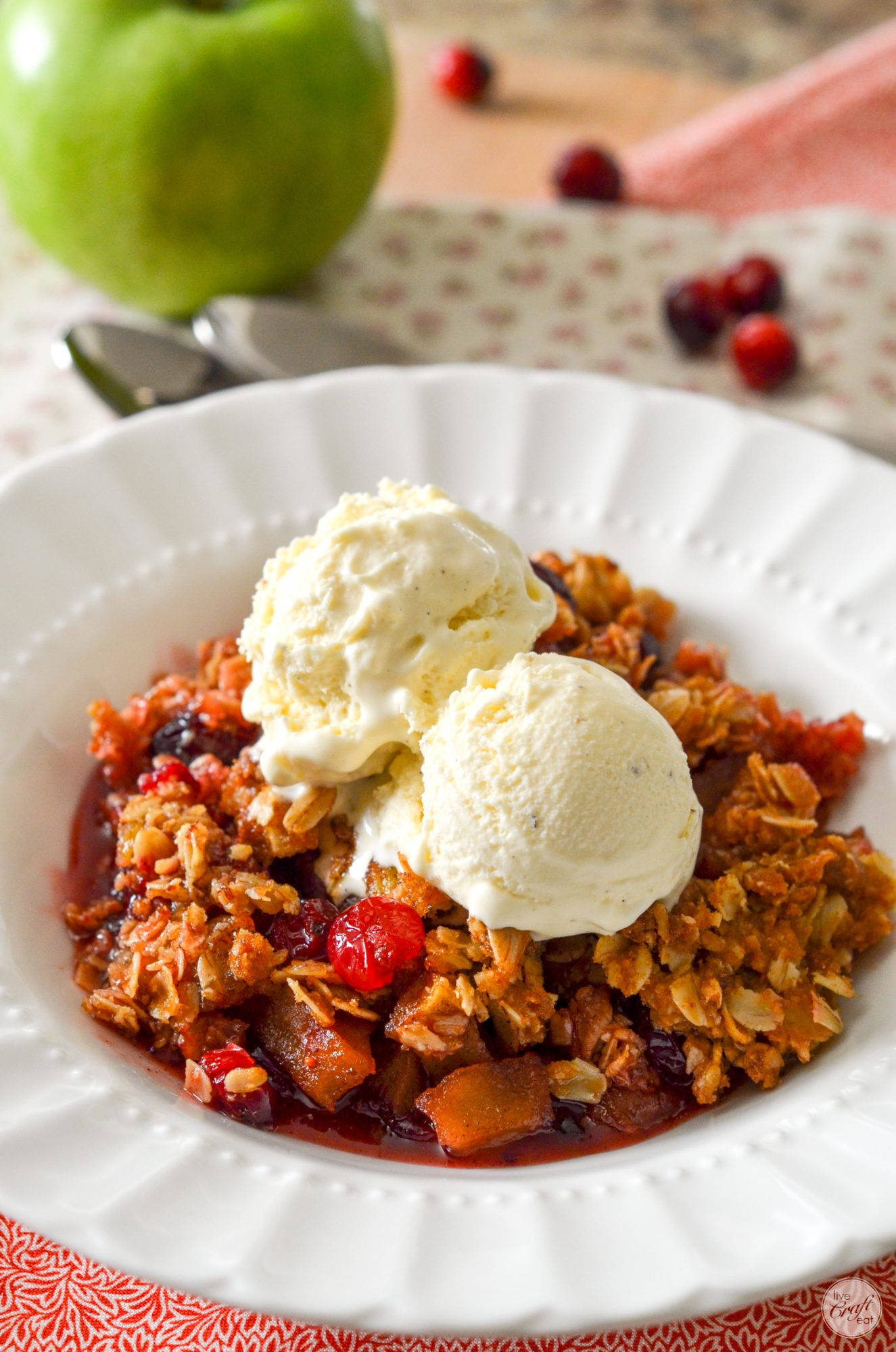 amazing cranberry apple crisp recipe :: perfect for a fall dessert!