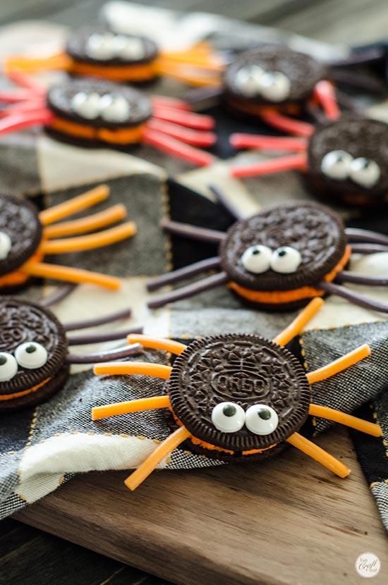 oreo spider cookies
