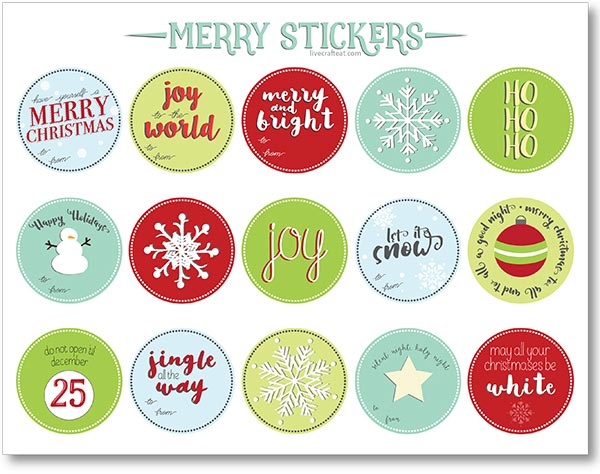graphic regarding Printable Christmas Stickers called No cost Printable Xmas Reward Tags and Labels Reside Craft Try to eat