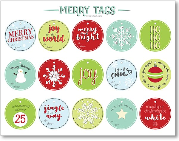 free printable christmas label stickers