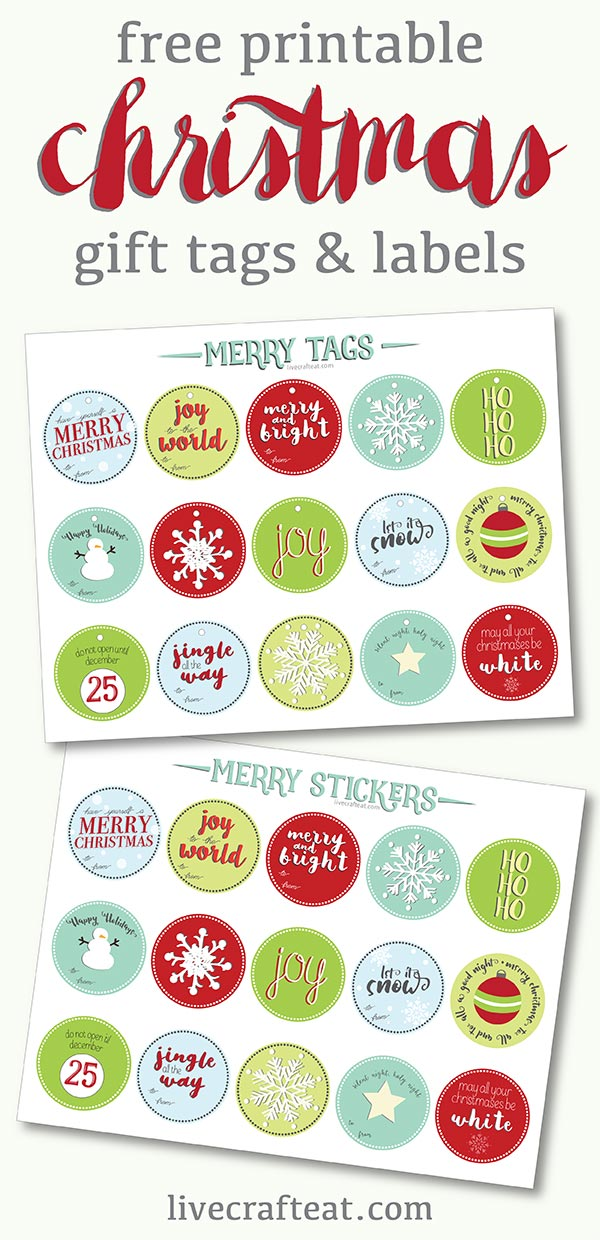 graphic relating to Printable Christmas Stickers titled Free of charge Printable Xmas Present Tags and Labels Reside Craft Take in