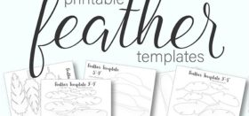 free printable paper feather templates