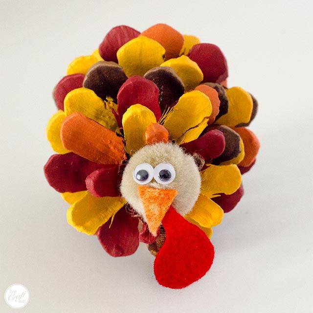 cutest pinecone turkey!