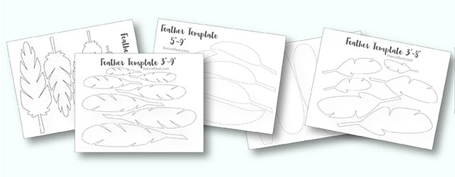 image relating to Feather Stencil Printable named Printable Turkey Feather Behaviors Templates - Free of charge Reside