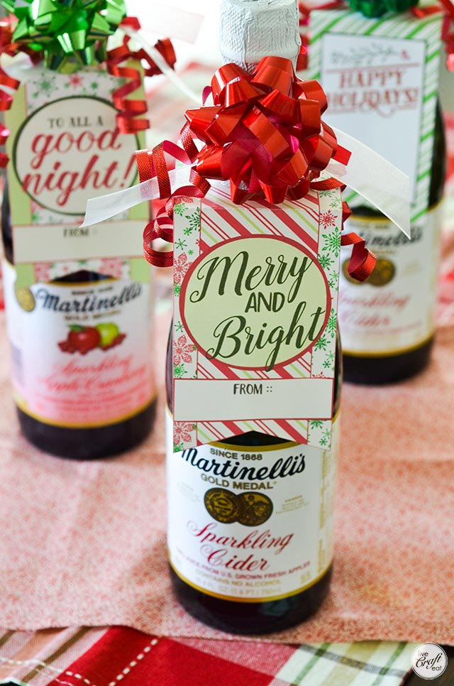 free printable christmas bottle tags