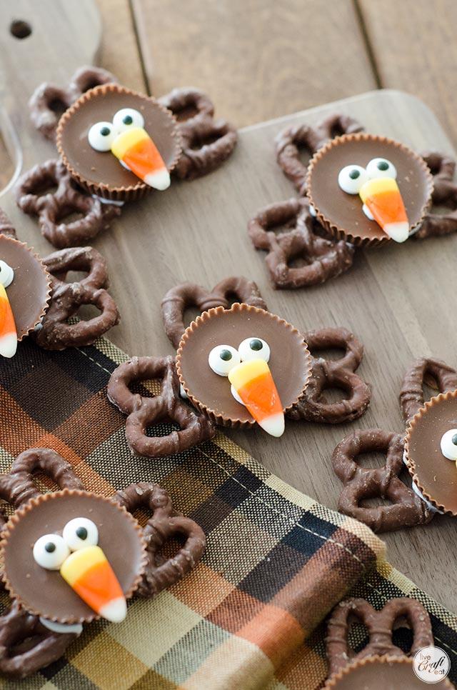chocolate peanut butter turkeys