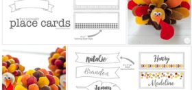 free printable place cards for thanksgiving turkeys