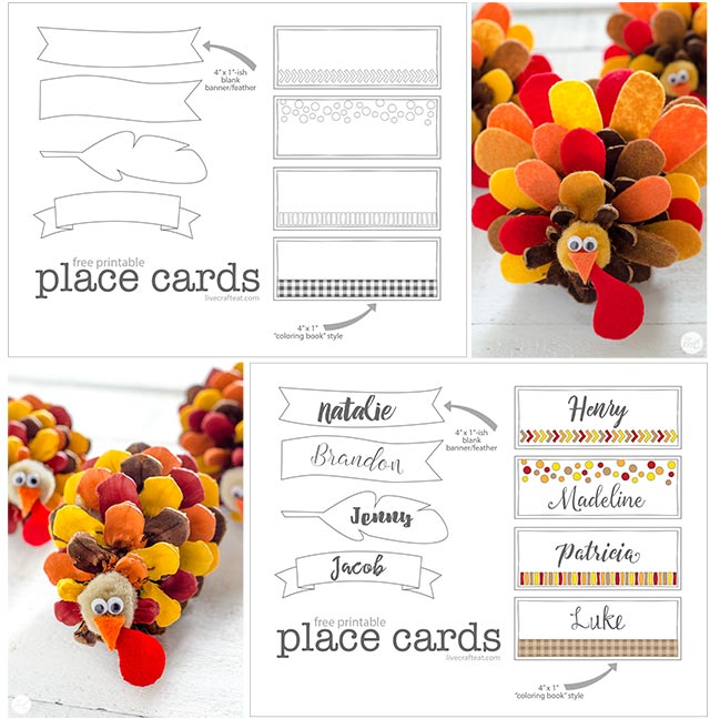 picture regarding Free Printable Name Cards titled Totally free Printable House Playing cards For Thanksgiving Are living Craft Take in