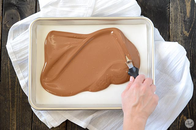 melted chocolate sheet