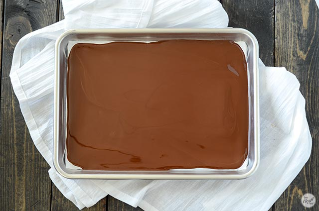 melted dark chocolate
