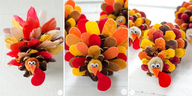 pinecone turkey crafts