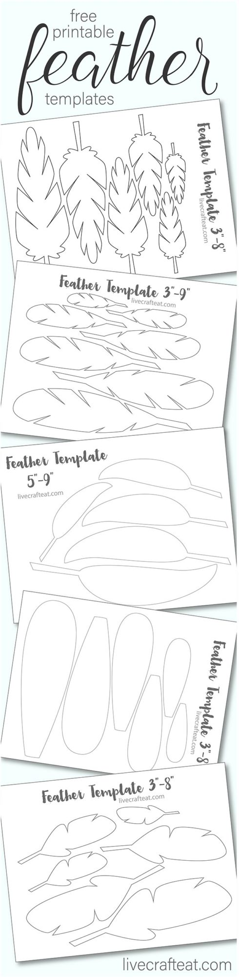 free printable feather templates