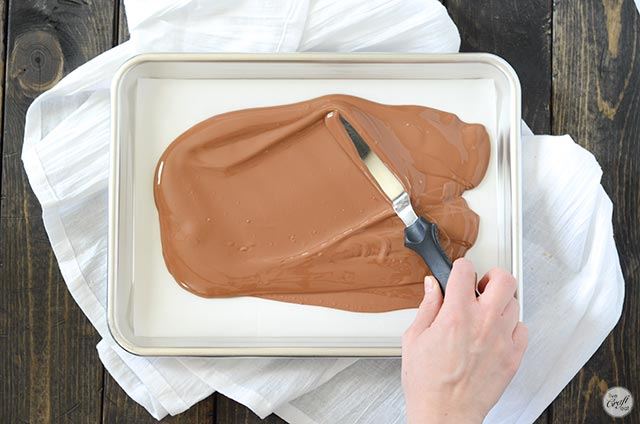 melted chocolate for nutella bark