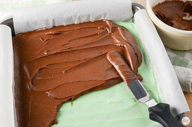 chocolate icing layer for brownies