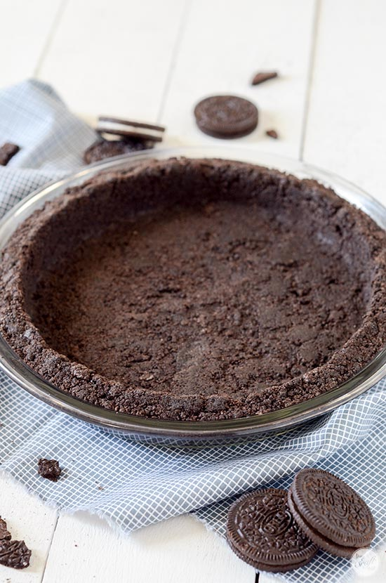 how to make an oreo cookie pie crust