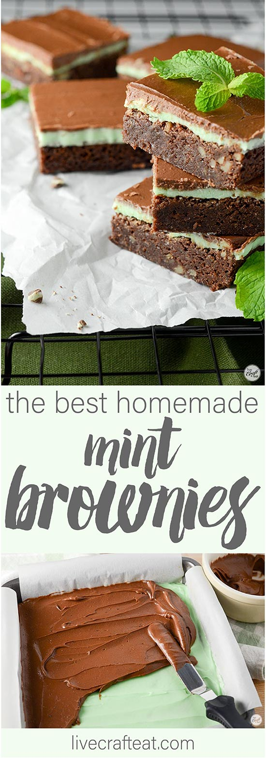 soft and chewy chocolate mint brownies