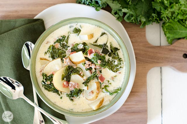 this bacon, sausage, kale, and potato soup warms my soul.