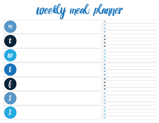 Printable Weekly Meal Planners  Free  Live Craft Eat